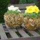 Blumenübertopf aus Laub