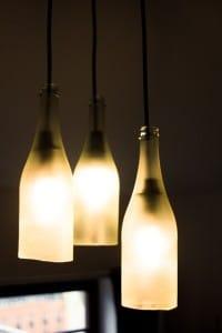 Lampe aus Sektflaschen - Anleitung zum Nachbauen