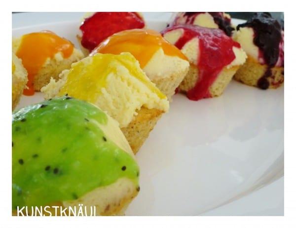Regenbogen Cupcakes ohne Lebensmittelfarbe