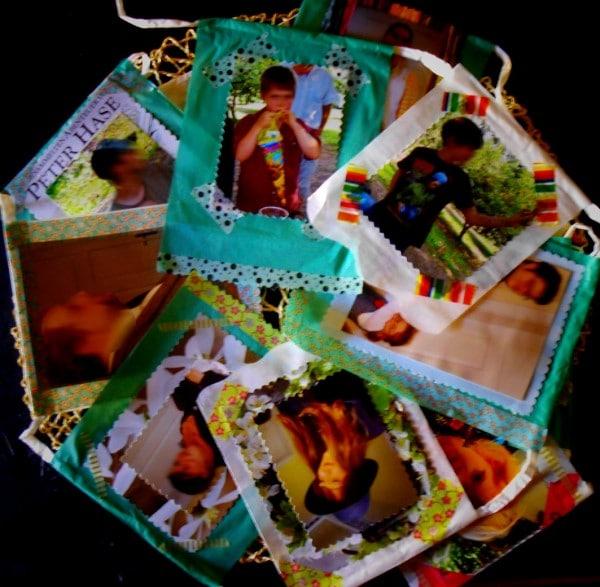 Seidenpapier Foto Girlande