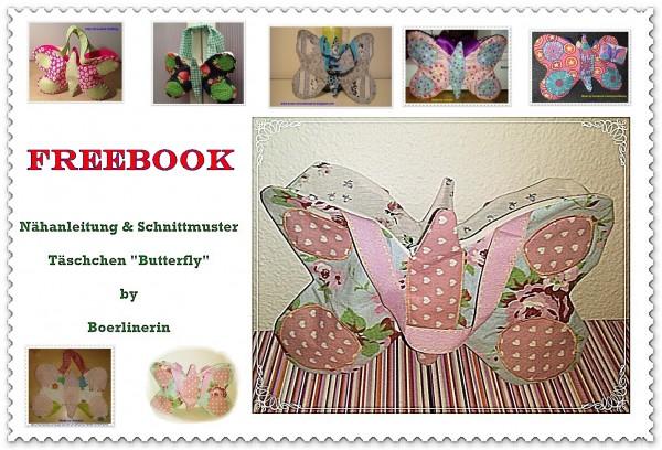 "Freebook Täschchen ""Butterfly"""