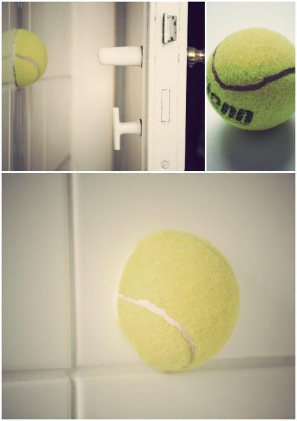 DIY Tennisball-Türstopper