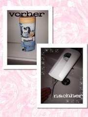 Upcycling: leere Shampooflasche wird zur Wasserstrahlverlängerung