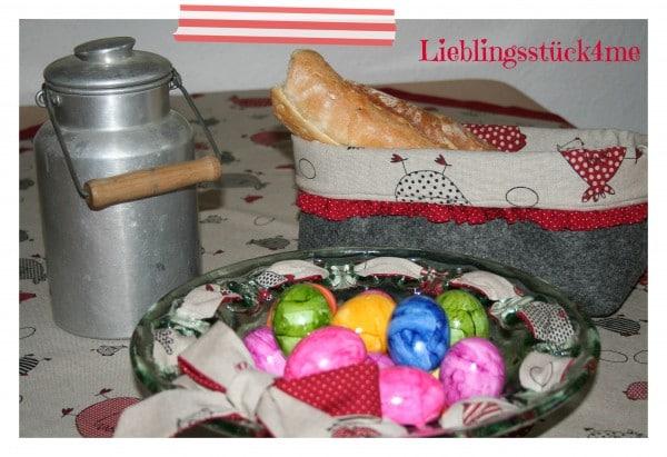 Oster - Tischdecke mit Briefecken selber nähen