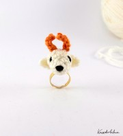 DIY: Amigurumi Hirsch-Ring