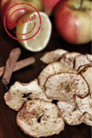 Zimtig-zitronige Apfelchips