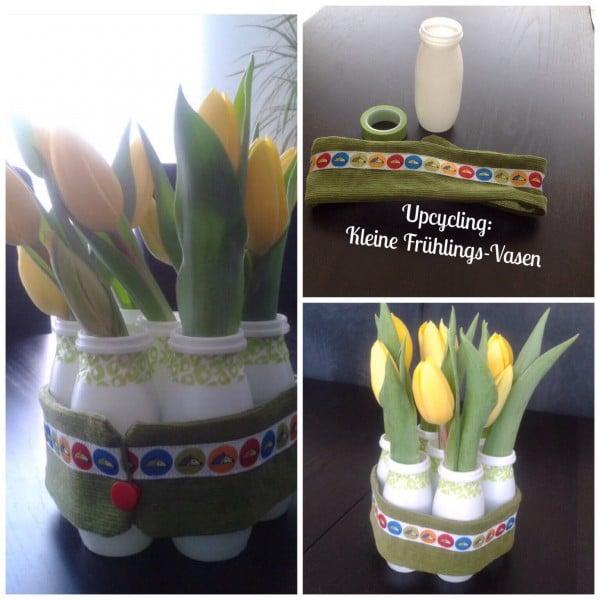 Kleine Vasen für den Frühling