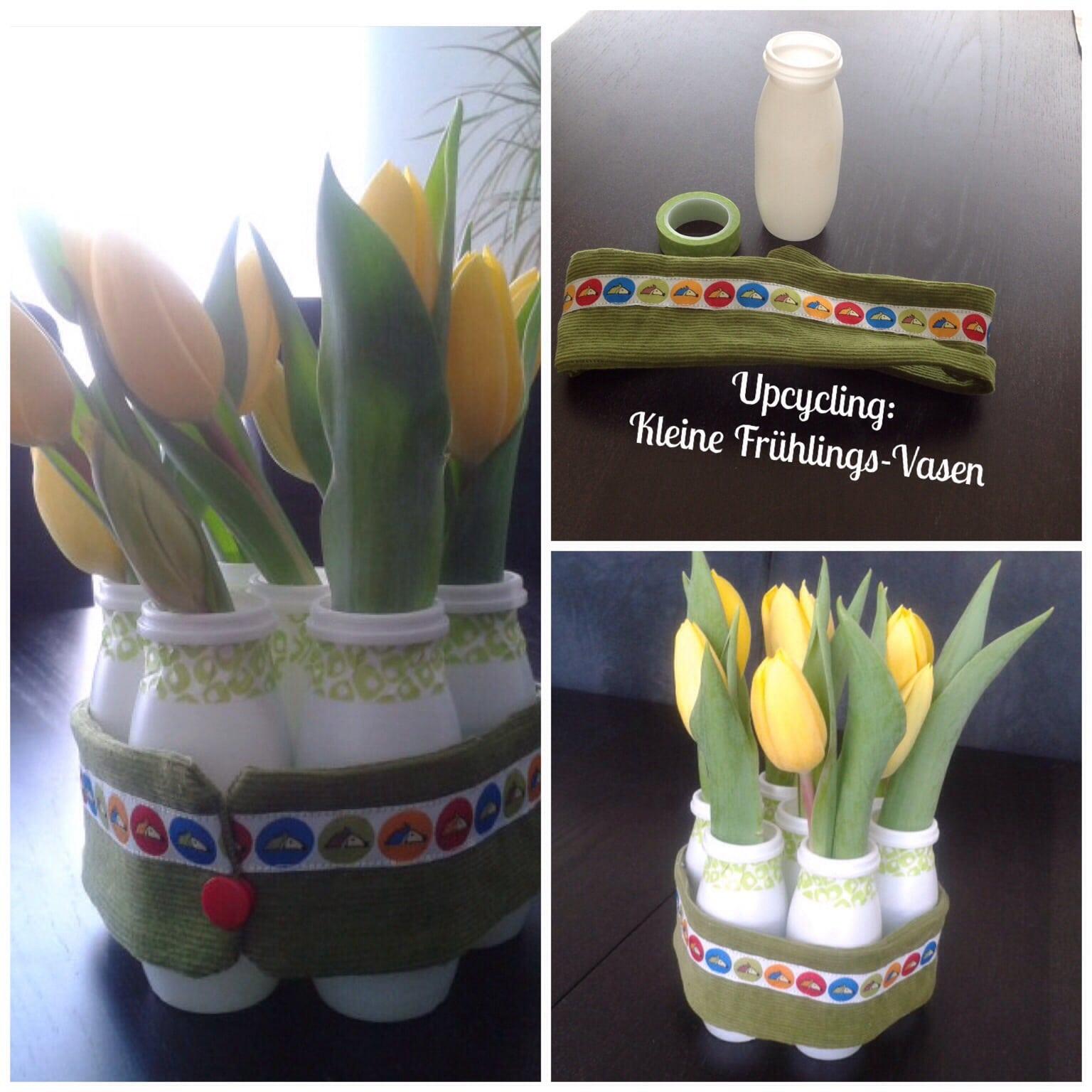 kleine vasen f r den fr hling handmade kultur. Black Bedroom Furniture Sets. Home Design Ideas