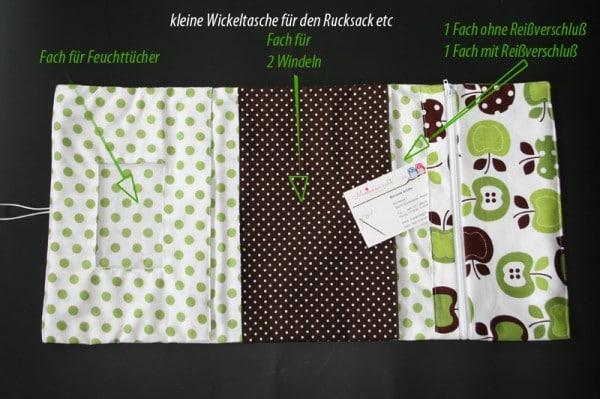 kleine wickeltasche handmade kultur. Black Bedroom Furniture Sets. Home Design Ideas