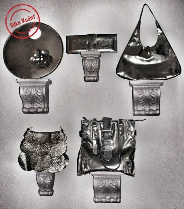 schicke aufbewahrung f r taschen handmade kultur. Black Bedroom Furniture Sets. Home Design Ideas