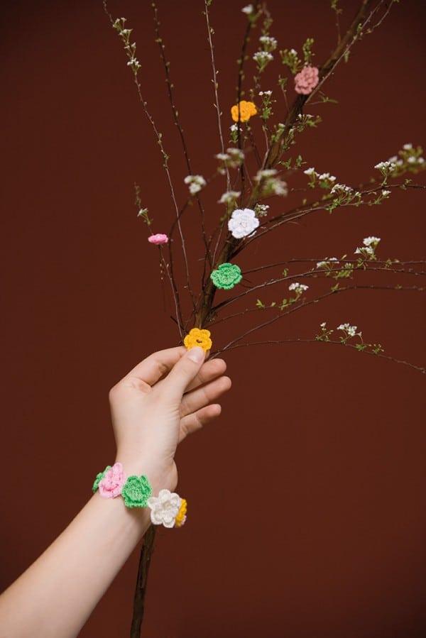 """Häkelblütenkette """"Gute Laune"""""""