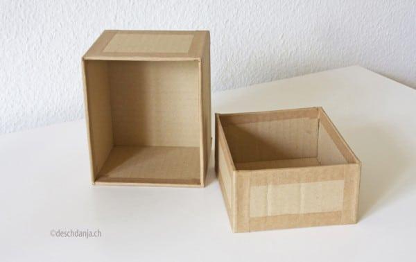 karton recycling schachtel selber machen handmade kultur. Black Bedroom Furniture Sets. Home Design Ideas