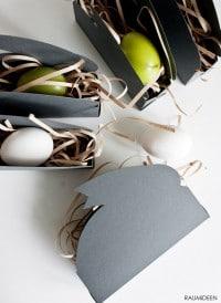 Osternester aus Papier (Hasensilhouetten)