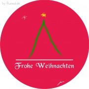 Freebie Tischdeko ... Weihnachtskugel ... Bierdeckel für Weihnachten