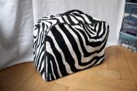 Großer Zebra-Wollkoffer