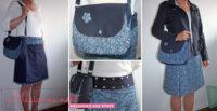 Wickelrock mit passender Handtasche