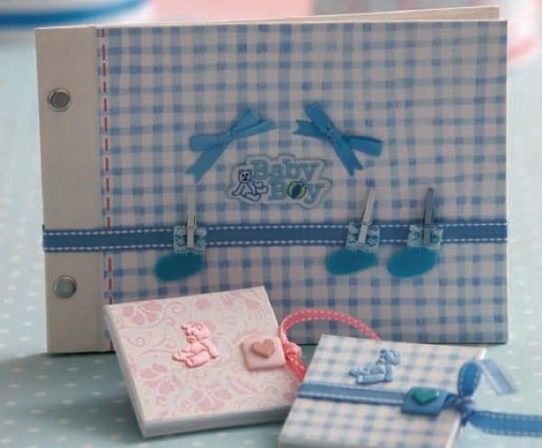 baby fotoalbum cover gestalten handmade kultur. Black Bedroom Furniture Sets. Home Design Ideas