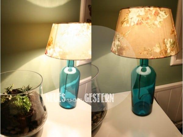 diy flaschenlampe handmade kultur. Black Bedroom Furniture Sets. Home Design Ideas