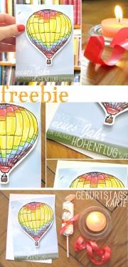 [freebie] Geburtstagskarte