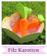 Zuckersüße Filz Karotten