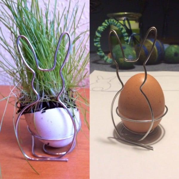Drahtiger osterhasen eierbecher handmade kultur for Eierbecher selber machen