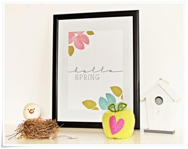 Frühlings-Print | Free Printable - HANDMADE Kultur