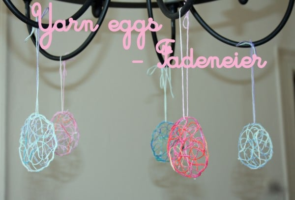 Yarn eggs - Fadeneier