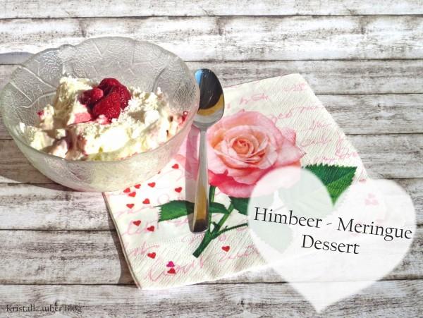 {Rezept} Himbeer - Meringue - Dessert