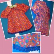 aus 70er-Jahre-Bluse wir süßes Kleidchen in Größe 92