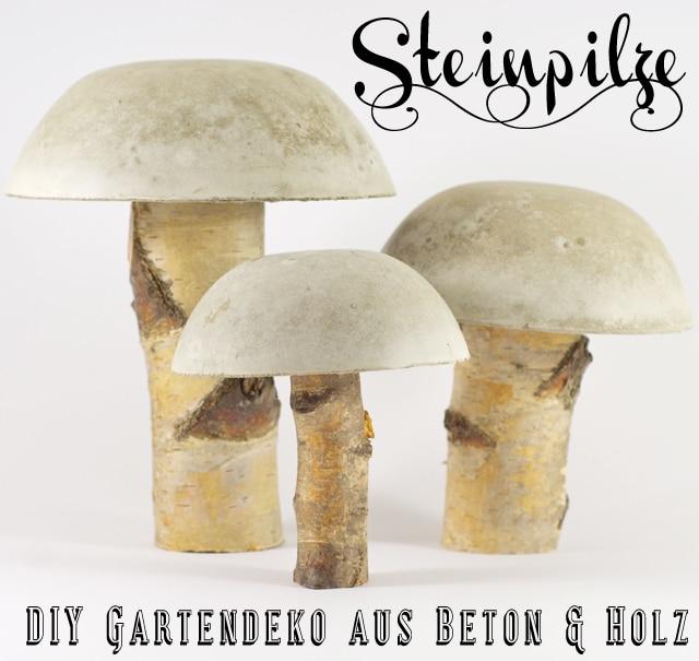 Steinpilze aus beton handmade kultur for Neue gartendeko aus beton