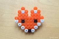 Fuchs-Anstecker aus Bügelperlen