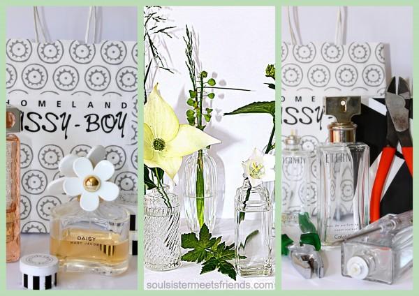 Flakons als Mini-Vasen