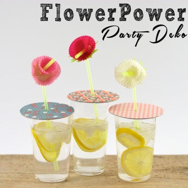 Sommerliche FlowerPower Partydeko