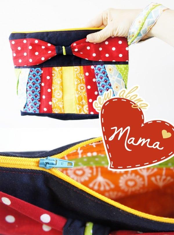 Sew Along - Clutch Schnittmuster und Zuschnitt