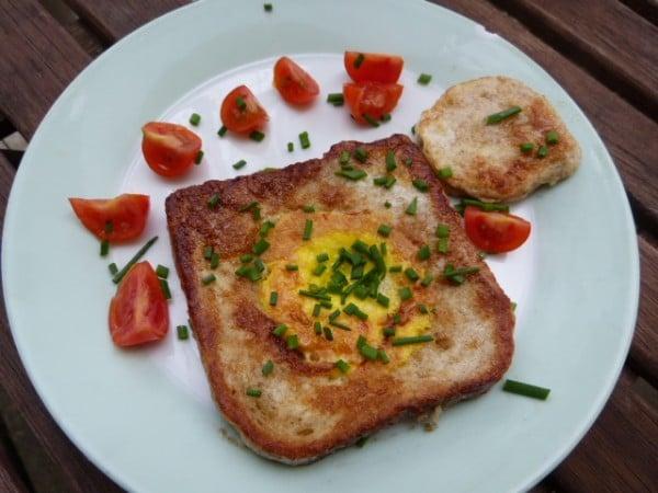 Egg in Hole - Amerikanisches Frühstück