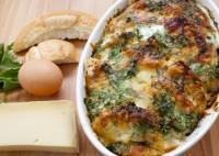 Resteverwertung - Schinken-Käse-Brotauflauf