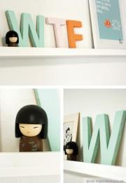 Resteverwertung: Holzbuchstaben