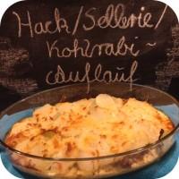 Kohlrabi/Sellerie/Hack-Auflauf