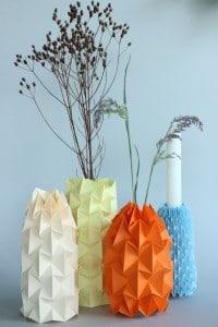 DIY – Gefaltete Magic Ball Vasen für den Frühling