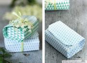 Origami-Schachteln - mit Muster-freebie