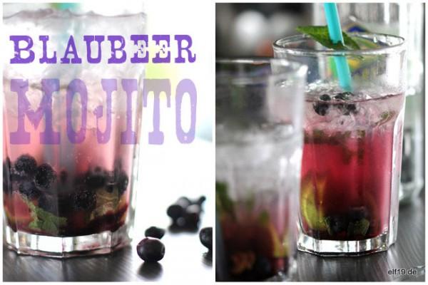 Blaubeer Mojito - eine leckere Erfrischung an einem lauen Sommerabend...