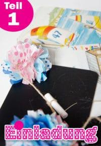 Einladungskarten aus Tafelfolie und recycelten Kinderbüchern