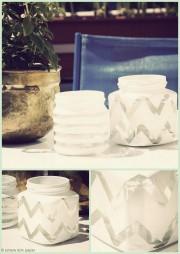 Recycelte Schraubglas-Windlichter