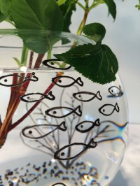 Glasvasen neu und originell gestalten