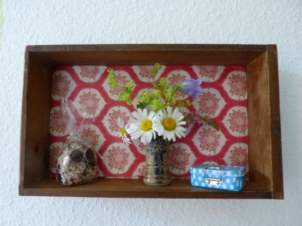 Wandfach aus alter Schublade