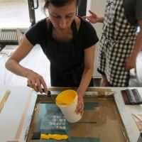 Siebdruckkurs für mehrfarbige Motive in Berlin