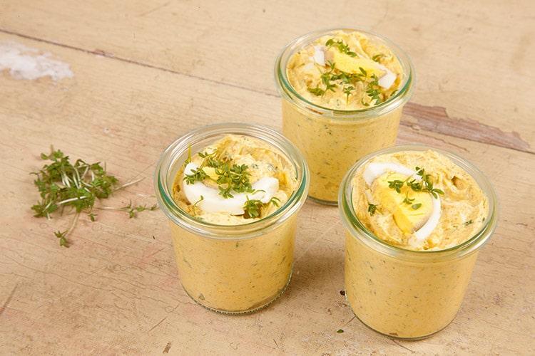 Kresse ei curry creme handmade kultur - Eier hart kochen dauer ...