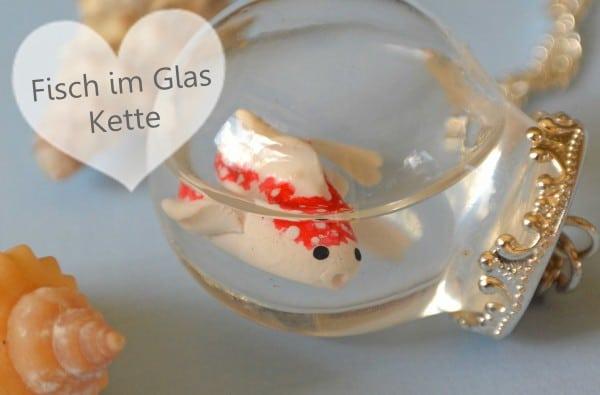 Fisch im Glas - Kette
