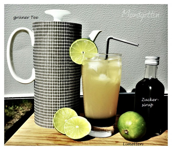 Limo aus grünem Tee