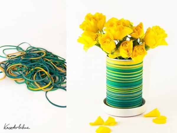DIY: Von Gummiringen zur Vase